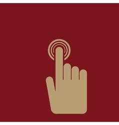 The hand click icon Cursor symbol Flat vector