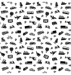 transport icons wallpaper vector image