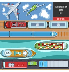 Transportation Colorful Icons Set vector