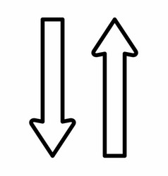 two way icon vector image
