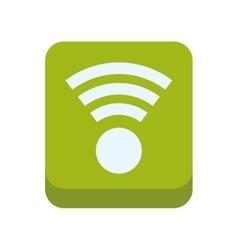 Wifi frame green internet web icon graphic vector