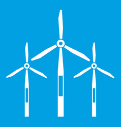 Wind generator turbines icon white vector