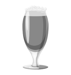 Wine goblet icon gray monochrome style vector image