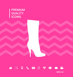 Women shoes icon the modern silhouette menu item vector