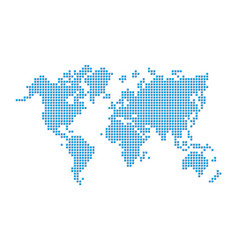 World map pixel style vector