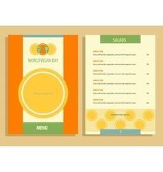 World vegan day menu vector