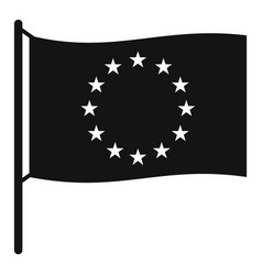 european flag icon simple style vector image vector image