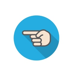 hand pointer vector image