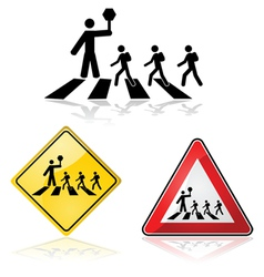 Street crossing vector image