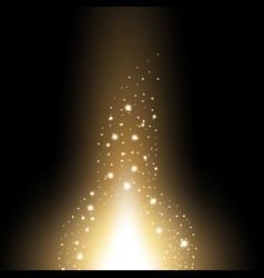 glow sparks effect golden color vector image