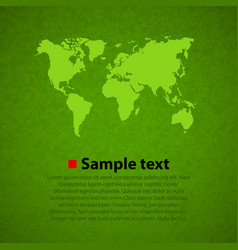 green world map background vector image