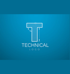 logo template letter t in the style of a vector image