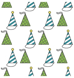 Party hats Seamless festive pattern vector image