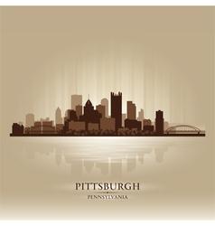 Pittsburgh Pennsylvania skyline city silhouette vector image vector image