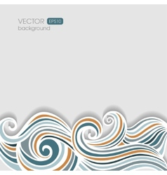 Abstract horizontal waving background vector image