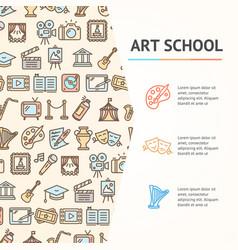 art school concept infographics banner vector image vector image