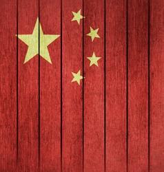 Grunge Flag Of China vector image
