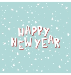 Happy New Year on a light blue background with vector image vector image
