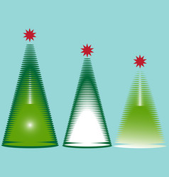 image of christmas trees vector image