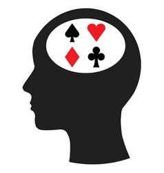Man and thinking and gambling vector image