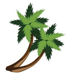 Two cartoon palms vector image vector image