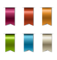 Color Realistic Ribbons vector image