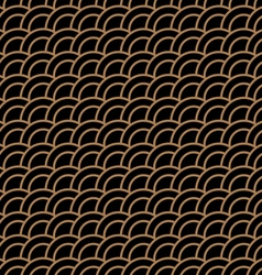 Geometric seamless pattern with stylized waves vector image vector image