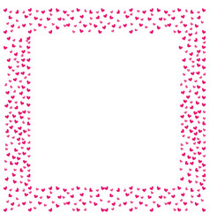 love frame card hearts decoration blank space text vector image