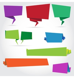 origami speech bubbles and banners vector image