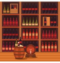 A wine cellar vector