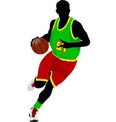 Al 0639 basketball player 02 vector