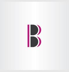 b logo sign element symbol letter vector image