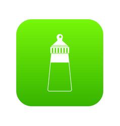 baby milk bottle icon digital green vector image
