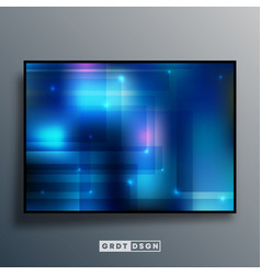 background template with blue gradient texture vector image