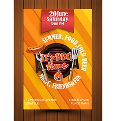 BBQ Grill flyer vector image vector image