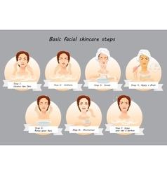Beauty facial procedures infographic Spa vector