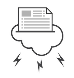 Big data icon cloud computing vector