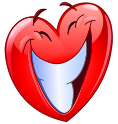 Big smile heart vector