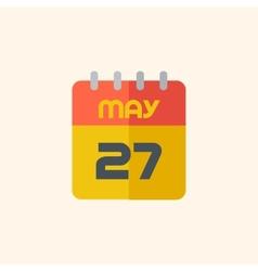 Calendar Travel Flat Icon vector