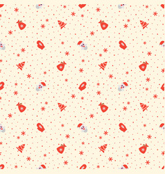 christmas pattern with santa claus vector image