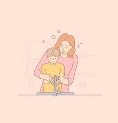 coronavirus healthcare training motherhood vector image
