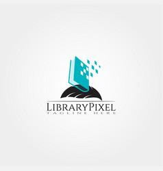 Digital library icons template creative logo vector