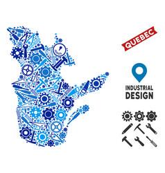 Equipment quebec province map mosaic vector