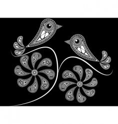 ethnic style birds vector image