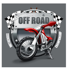 Extreme red off road motorbike t-shirt logo vector