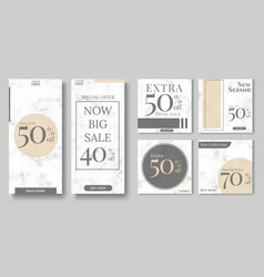 Fashion sale social media post design template vector