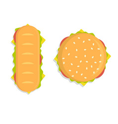 Food - burger modern flat design vector