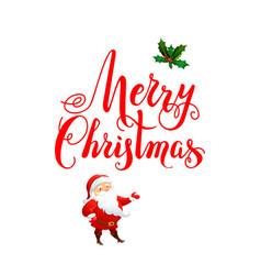 handwritten christmas letteing vector image