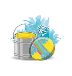 happy holi design vector image