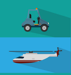 helicopter transport service vector image